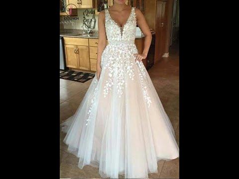 a-line-v-neck-long-sexy-prom-dress,lace-appliques-long-wedding-dresses-kpw0018