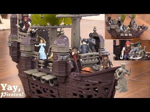 Pirate Ship Playsets! Pirate Toys Playtime with Hulyan & Maya. Disney Pirates of the Caribbean