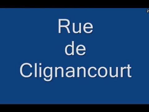Rue de Clignancourt Paris Arrondissement  18e