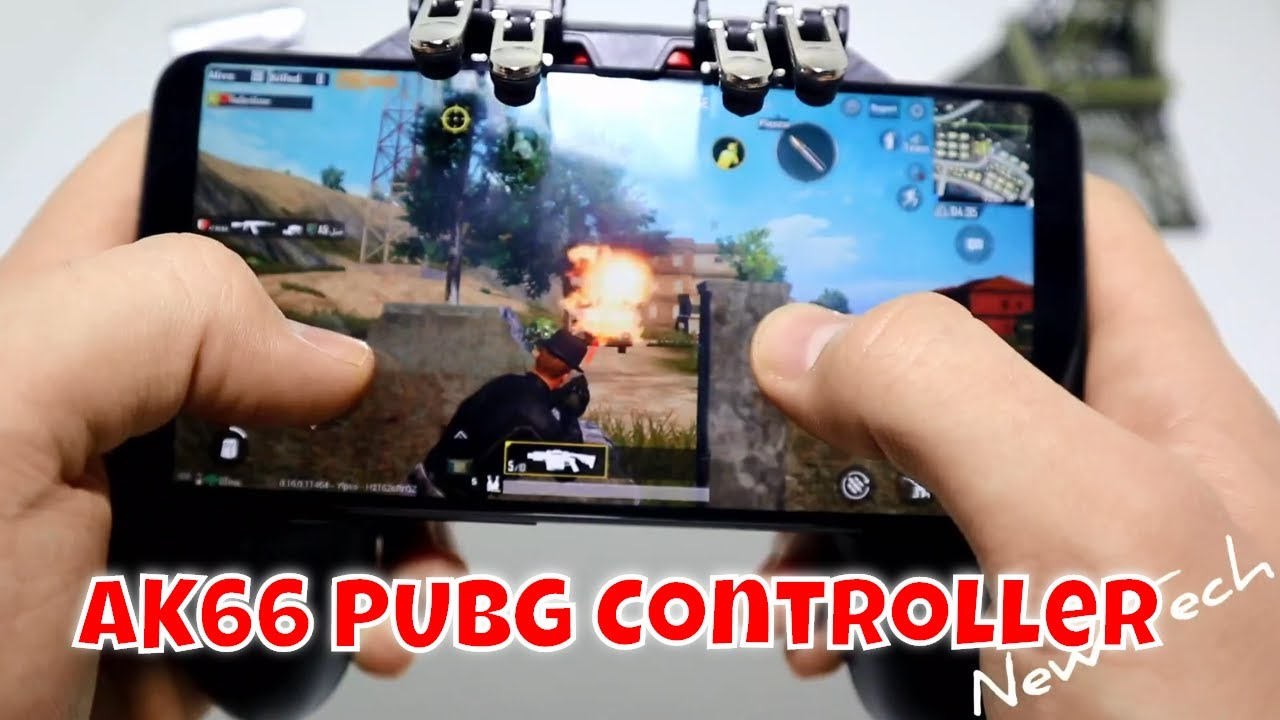 How To Use Ak66 Pubg Controller Six Finger Mobile Game Shooting Free Fire Key Button Gamepad Youtube
