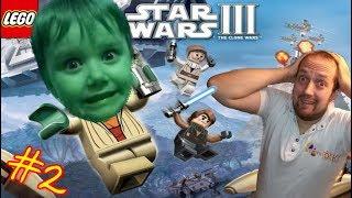 LEGO Star Wars 3 TCW Прохождение #2 Сорванные башни Летсплей от канала Волчок топ игры для детей👍