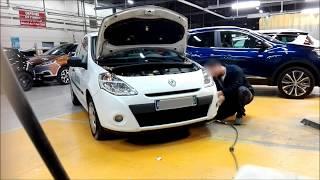 Tuto démontage pare-choc Av Renault Clio 3/Disassembly front bumper Renault Clio 3