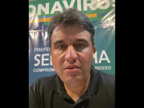 Vídeo: Confira o recado do prefeito Adriano Lima após Serrinha bater recorde diário de casos da covid-19