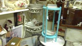 Booth 606 Brass Armadillo Goodyear Shabby Chic Vintage Furniture Shelves Side/end Tables