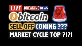 BITCOIN SELL OFF Soon? Market Cycle Top? 💥❗️LIVE Crypto Analysis TA & BTC Cryptocurrency Price News