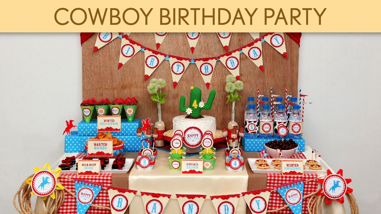 Beautiful Cowboy Birthday Party Ideas // Cowboy - B29 - YouTube NH58