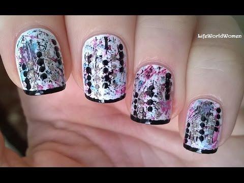 dry brush & toothpick nail art