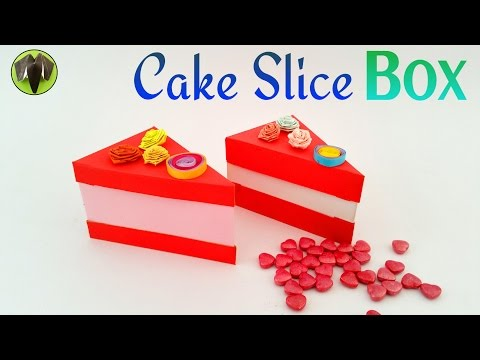"""Tutorial to make a paper  """"Cake 🎂 Slice Box"""" - 10,000 Subscribers (friends) special🙏❤️"""