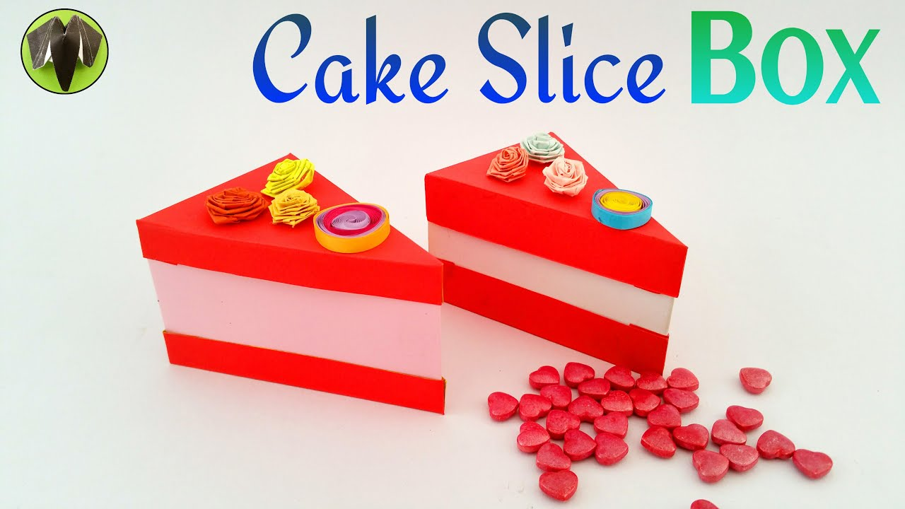tutorial to make a paper cake d slice box 10 000 subscribers