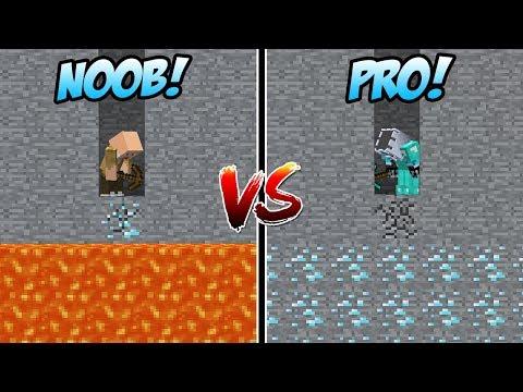 MINING DIAMOND NOOB VS MINING SURGA DIAMOND PRO DI MINECRAFT!