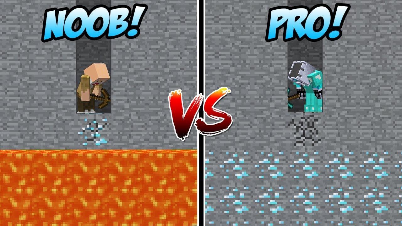 MINING DIAMOND NOOB VS MINING SURGA DIAMOND PRO DI MINECRAFT