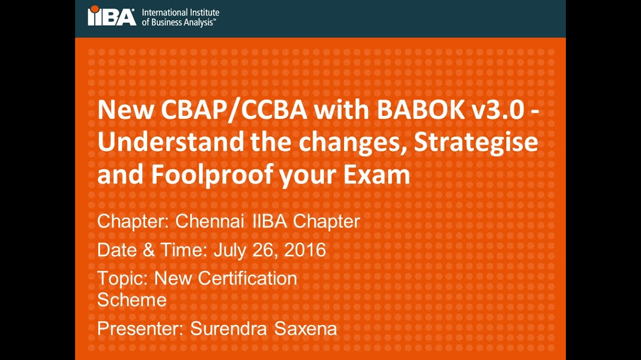 New Cbapccba With Babok V30 Understand The Changes Strategise