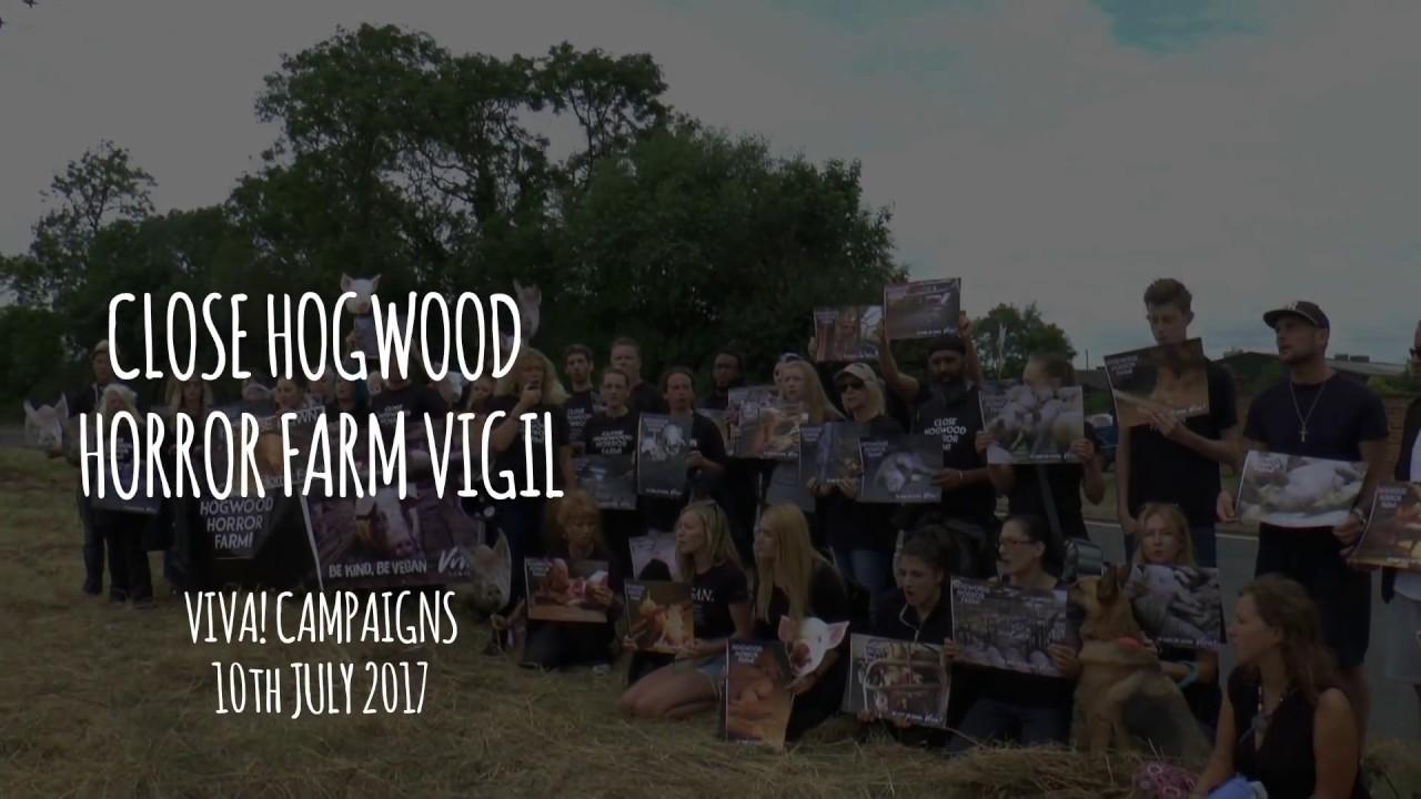 Vigil for the Pigs: Outside Hogwood Horror Farm (10 July 2017)