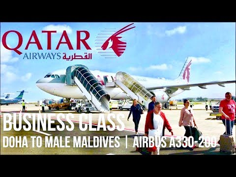 Qatar Airways Business Class Doha to Malé Maldives | Airbus A330-200