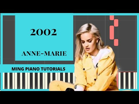 2002 - Anne-Marie piano tutorial cover FREE midi & SHEET music(Ming Piano Tutorials)