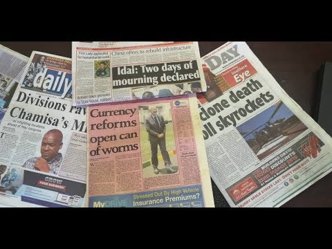 Today's Leading Newspaper Headlines In Zimbabwe This Morning Ep 30