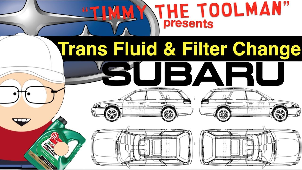 Subaru Outback Transmission Fluid and Filter Change - YouTube