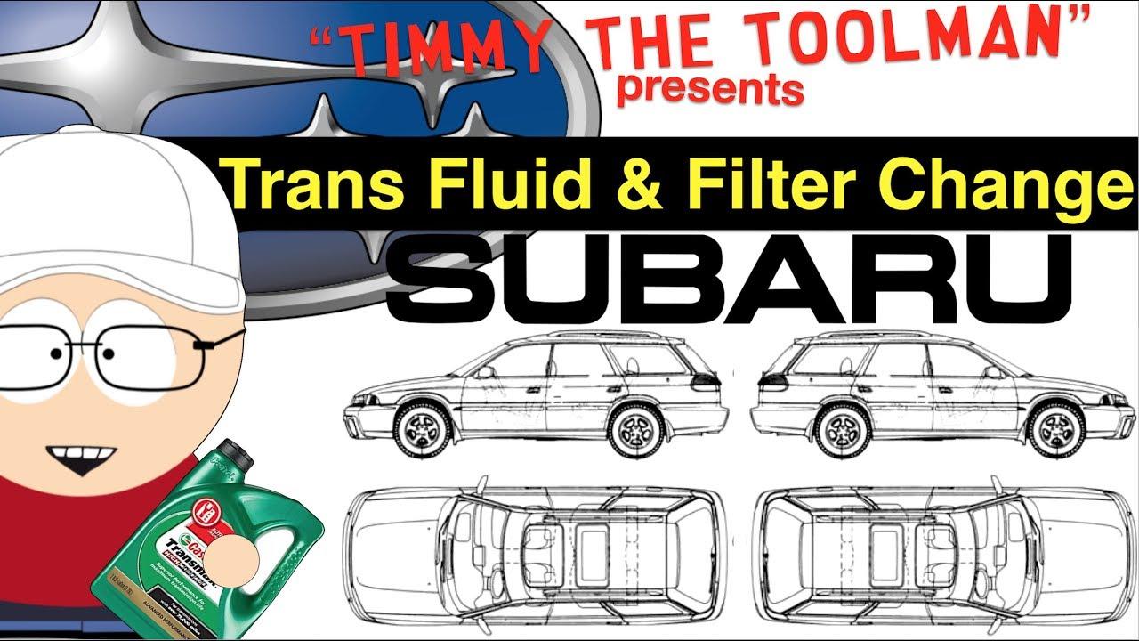 Subaru Outback Transmission Fluid and Filter Change
