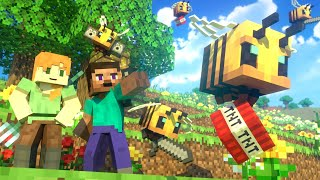 BEES FIGHT  Alex and Steve Life (Minecraft Animation)