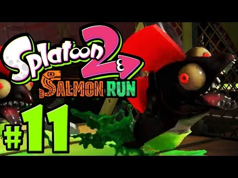 Splatoon 2 - Salmon Run PART 11 - Nintendo Switch Gameplay Walkthrough - Roller Rush - Profreshional