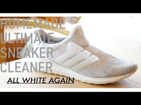 HOMEMADE ULTIMATE SNEAKER CLEANER - ACETUNE/TOOTHPASTE/BLEACH ULTRA BOOST