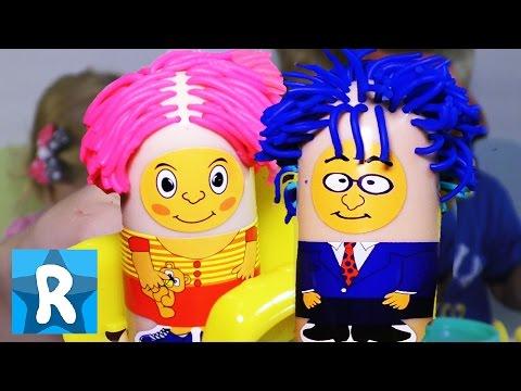 ★ ПАРИКМАХЕРСКАЯ и Пластилин Плей До. Распаковка набора. Play-Doh Incredible hairstyles