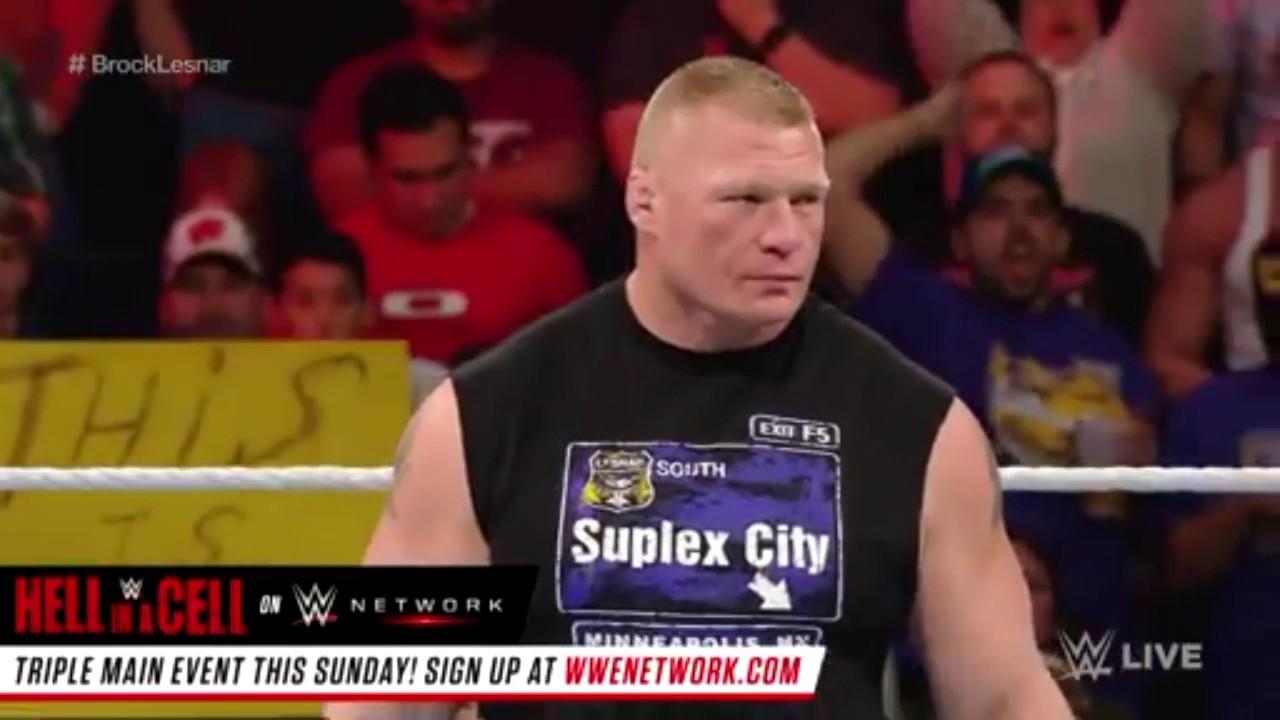 Download Brock Lesnar Returns & Respond to Goldberg 24 Oct 2016
