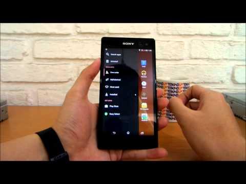 Antarmuka Sony Xperia C3