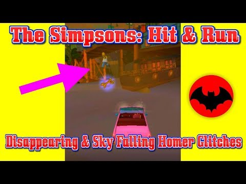The Simpsons: Hit & Run | Disappearing & Sky Falling Homer Glitches