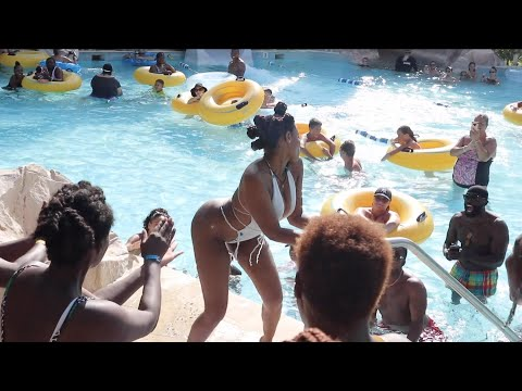 Pool Party at Hilton Jamaica this happened