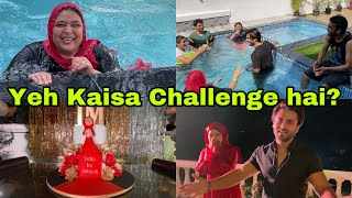 Preparation day for saba's gold play button unboxing | Pool masti | Ibrahim family | Shoaib Ibrahim