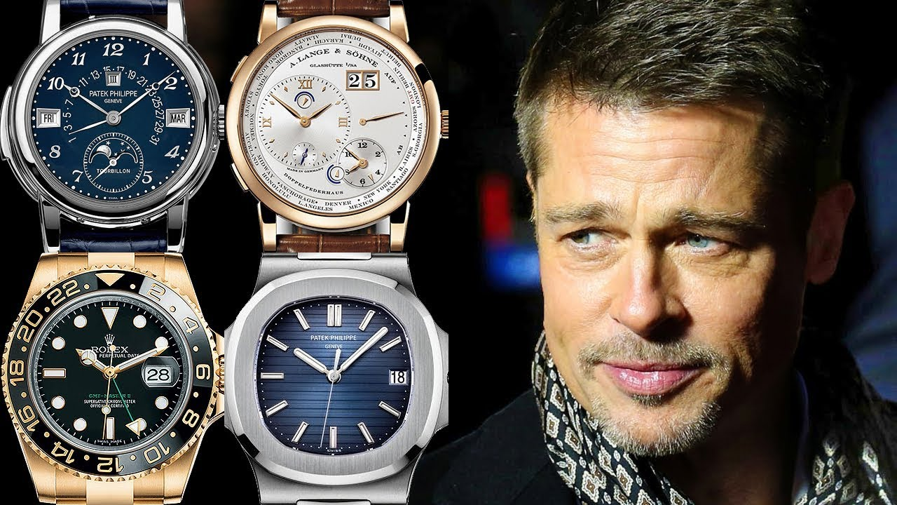 brad pitt watches to watch collection youtube celebrity rated from