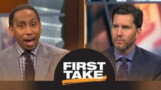 Will Cain tries to persuade Stephen A. that NFL should stand by anthem policy | First Take | ESPN