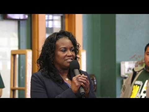 Michelle King's visit to John Burroughs Middle School