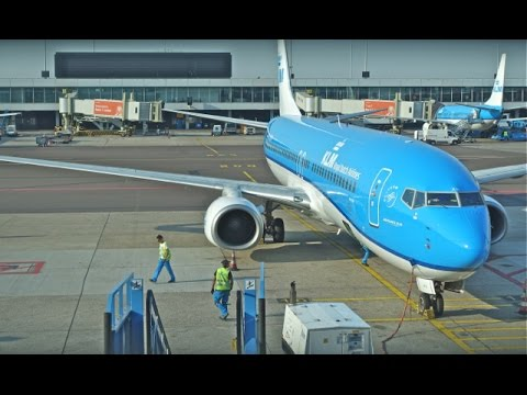 KLM Boeing 737-800 / Amsterdam to Copenhagen / Business Class