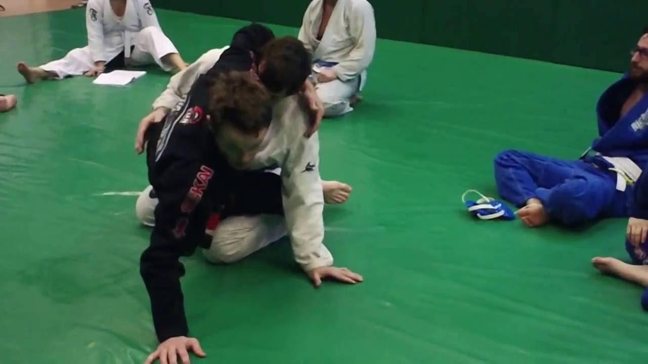Hip-Bump Sweep Triangle Setup in Brazilian Jiu-Jitsu