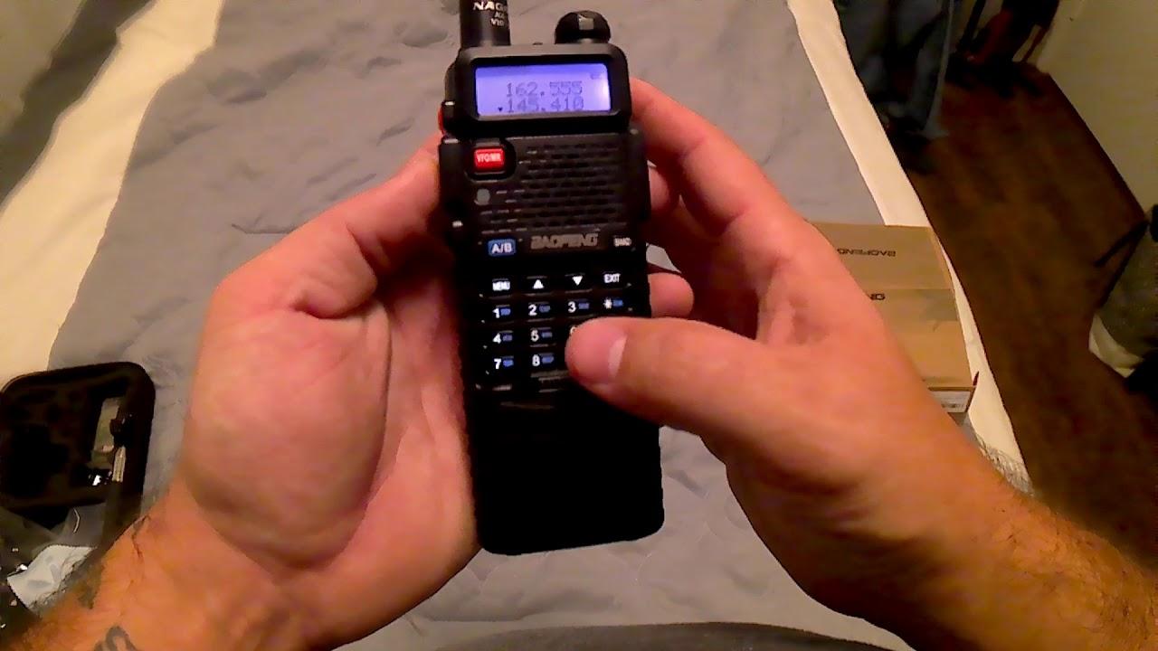 Baofeng uv5r with 3800 mah battery and nagoya 771 antenna
