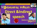 English Grammar Direct and Indirect Speech Easy Explanation in Tamil