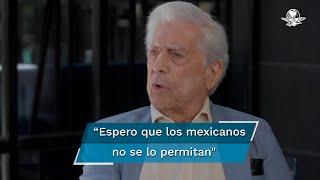"""El escritor calificó al presidente Andrés Manuel López Obrador de populista; lamentó además, que """"a estas alturas"""" se pida a España disculparse por la Conquista en México"""