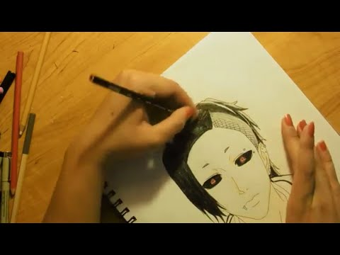 speed drawing uta from tokyo ghoul youtube