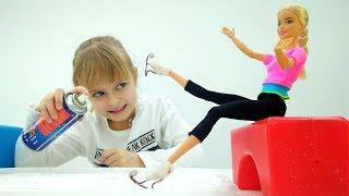 Барби учится кататься на коньках. Приключения Барби - Мультики для девочек