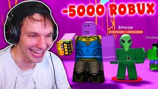 Once THANOS snaps, he DESTROYs the whole MAP! (Roblox)