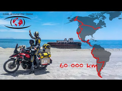 Long way up from Argentina to Alaska on motorcycle in 8 months