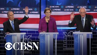 Democratic candidates target Michael Bloomberg at debate
