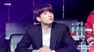 190105 GDA 골든디스크 방탄소년단 정국 (BTS JUNGKOOK REACTION TO Worldwide Girls Stage)