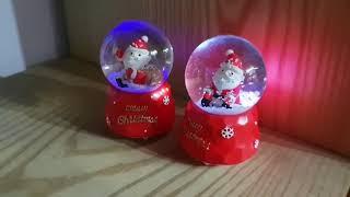 귀여운 산타 워터볼 조명 2종세트