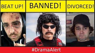 David Dobrik DIVORCED! -  Dr DisRespect BANNED! #DramaAlert & much more (FOOTAGE)