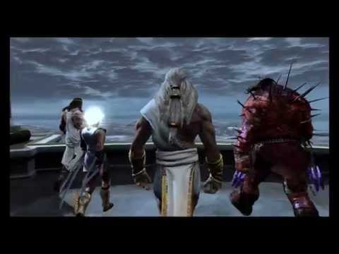 God of War 3: R - Opening Mount Olympus Titans Vs Gods Battle (Gaia, Zeus, Kratos) 1080p 60FPS PS4