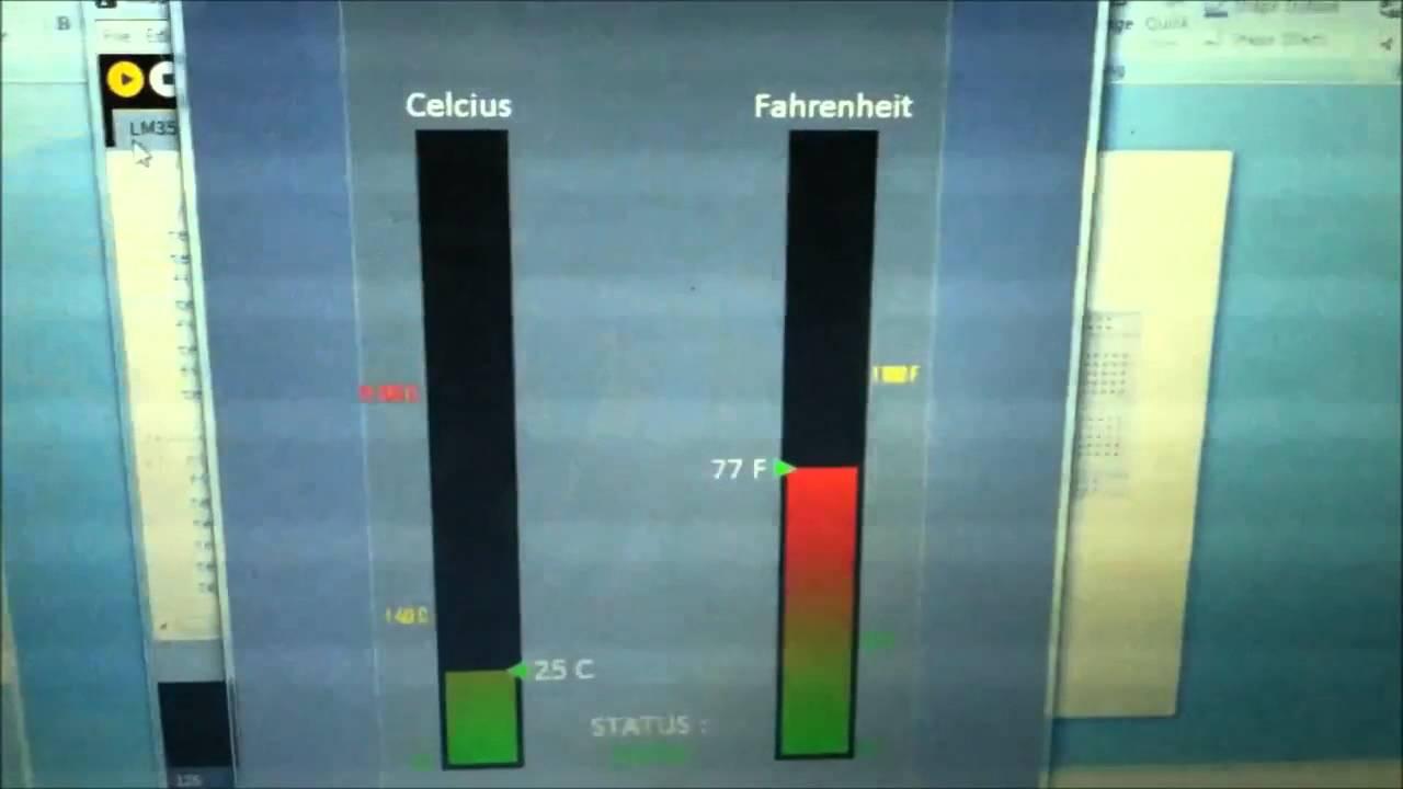 Gui Sensor Suhu Lm35 Youtube