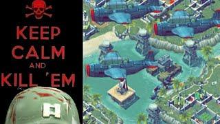 Battle Islands Online Game Play REDWIZARD1270 (blue) vs UNSKINABLE1 (green)